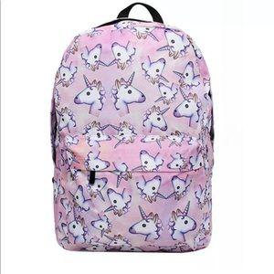 Unicorn School Bag Backpack 3D Unicorn Cartoon.